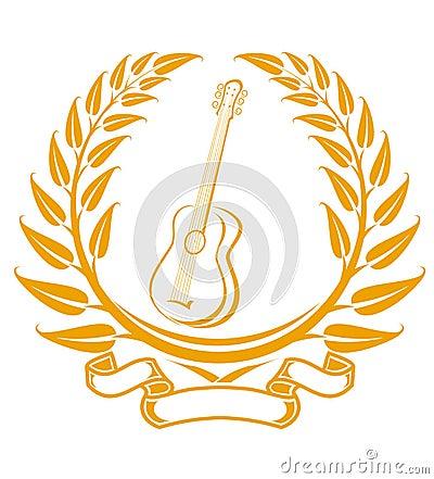 Het symbool van de gitaar