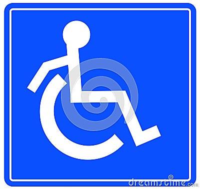 Het symbool van de handicap