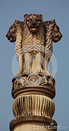 Het symbool van de leeuw van India