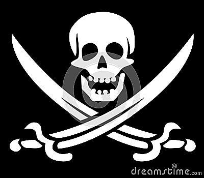 Het symbool van de piraat