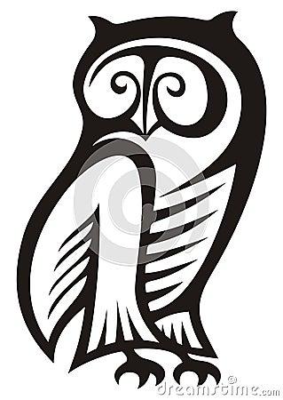 Het symbool van de uil