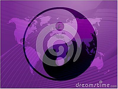 Het symbool van Yang van Yin