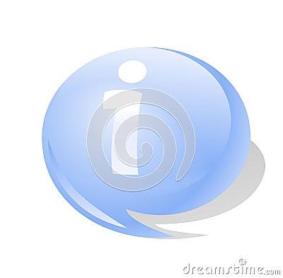 Het symboolpictogram van info