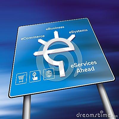 Het teken van de elektronische handel