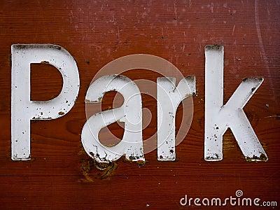 Het teken van het park