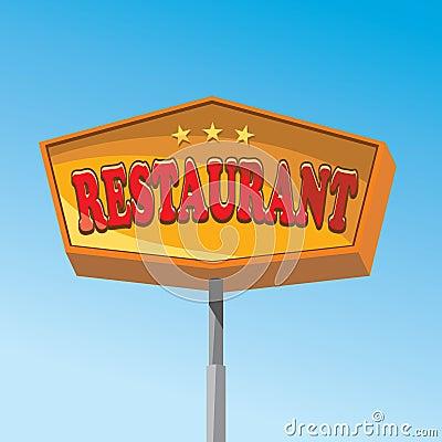 Het teken van het restaurant