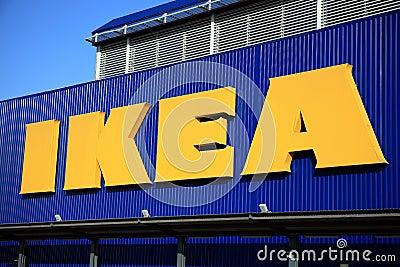 Het Teken van Ikea Redactionele Fotografie