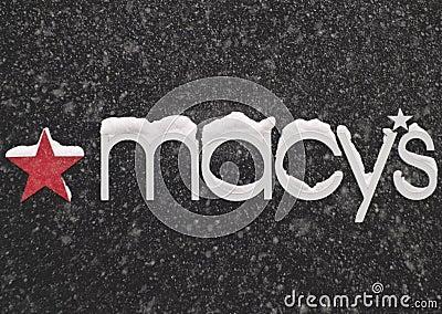 Het teken van Macy Redactionele Foto