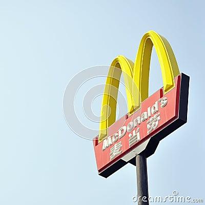 Het teken van McDonalds Redactionele Stock Foto
