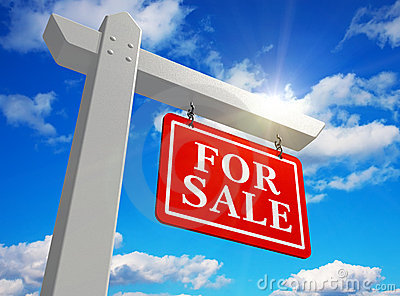 ?Het teken voor van verkoop? onroerende goederen
