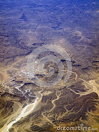 Het terrein van de woestijn