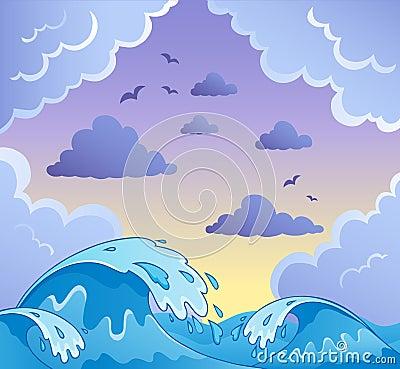 Het themabeeld 2 van golven