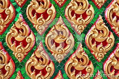Het traditionele Thaise patroon van de stijlkunst