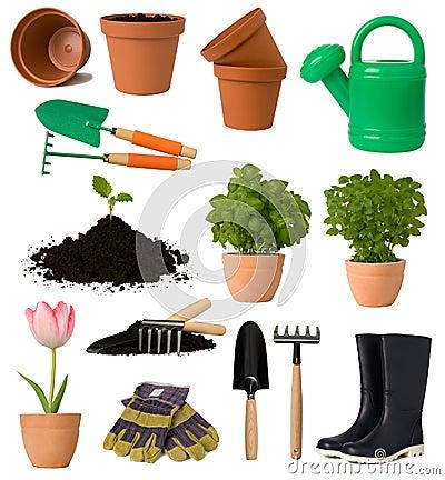 Het tuinieren inzameling