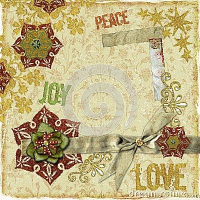 Het uitstekende Frame of de Kaart van het Plakboek van Kerstmis
