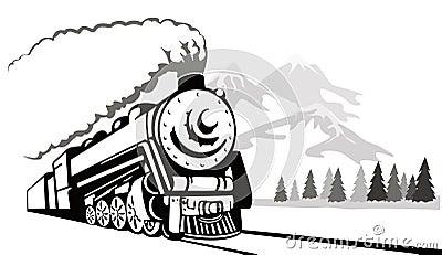 Het uitstekende reizen van de trein