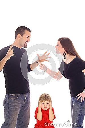 Het vechten van ouders