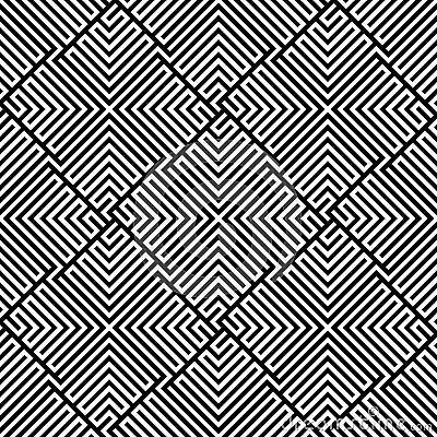 Het vector Naadloze Patroon van het Labyrint