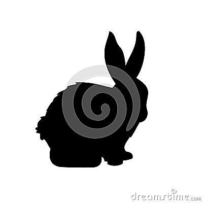 Het vectorsilhouet van het konijn