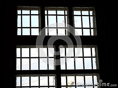 Het venster van de gevangenis