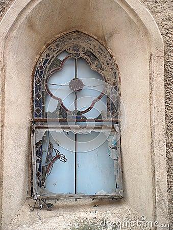 Het venster van de kerk