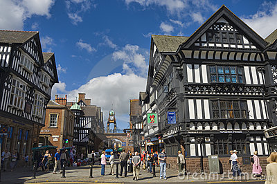 Het Verenigd Koninkrijk - Chester Redactionele Stock Foto