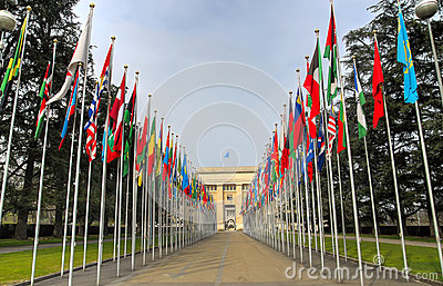 Het verenigde Bouwen aan een natie, Genève, Zwitserland