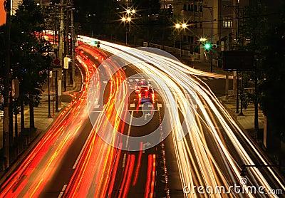 Het verkeer van de nacht