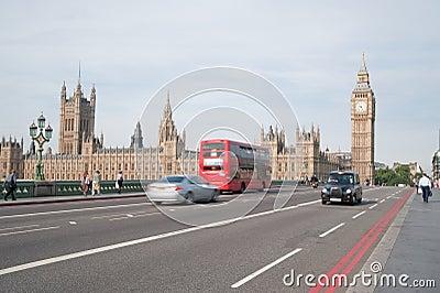 Het verkeer van Londen