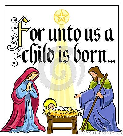 Het Vers van de Geboorte van Christus van Kerstmis