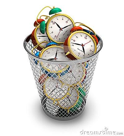 Het verspillen van tijdconcept