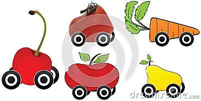 Het vervoer van het voedsel