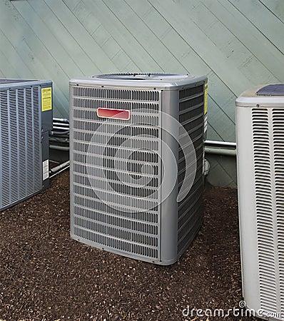 Het verwarmen en AC eenheid