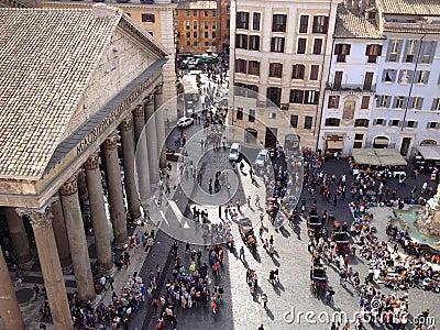 Het vierkant van het pantheon, Rome