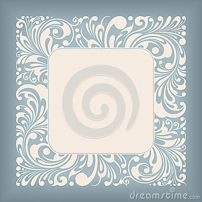 Het Vierkante Etiket van het ornament