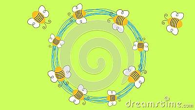 Het vliegen loopable de animatie van de Bijencirkel