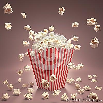 Het Vliegen van de popcorn