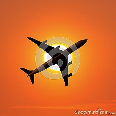 Het vliegtuig van de luchtreis