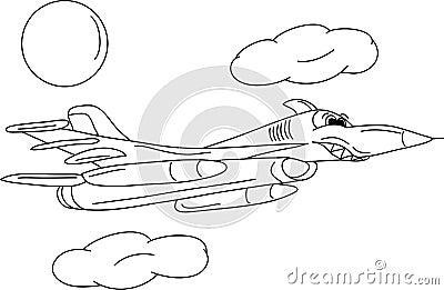 Het vliegtuig van de slag
