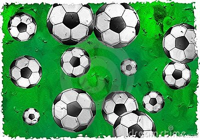 Het voetbal van Grunge
