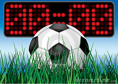 Het voetbalspel van het begin.