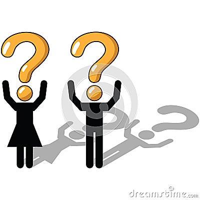 Het vragen, onzekere onzekerheid,