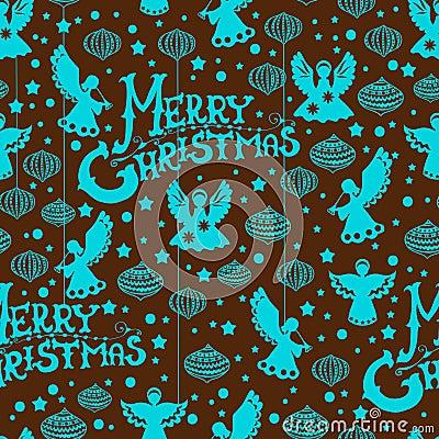 Het vrolijke naadloze patroon van Kerstmis