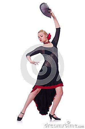 Het vrouwelijke danser dansen