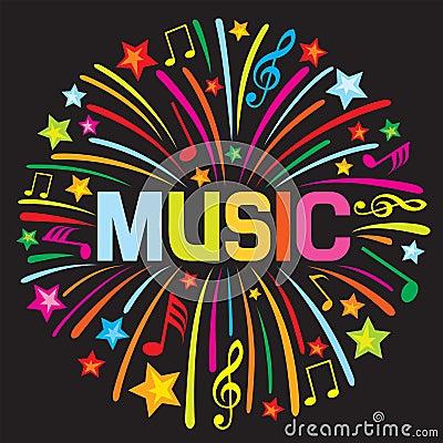 Het vuurwerk van de muziek