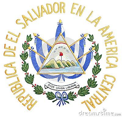 Het Wapenschild van El Salvador