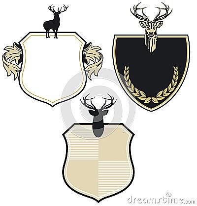 Het wapenschildflard van herten