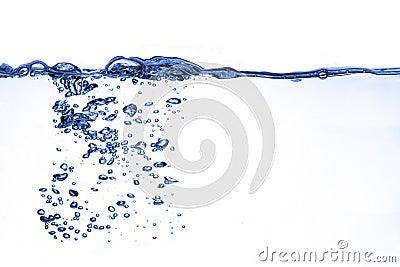 Het water van de plons