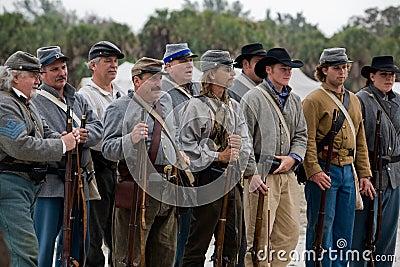 Het Weer invoeren van de Burgeroorlog Redactionele Fotografie
