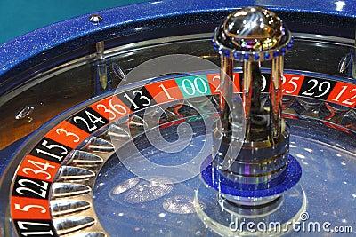 Het wiel van de roulette